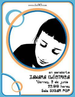 LA CANTAUTORA ZAHARA SE ELECTRIFICA.