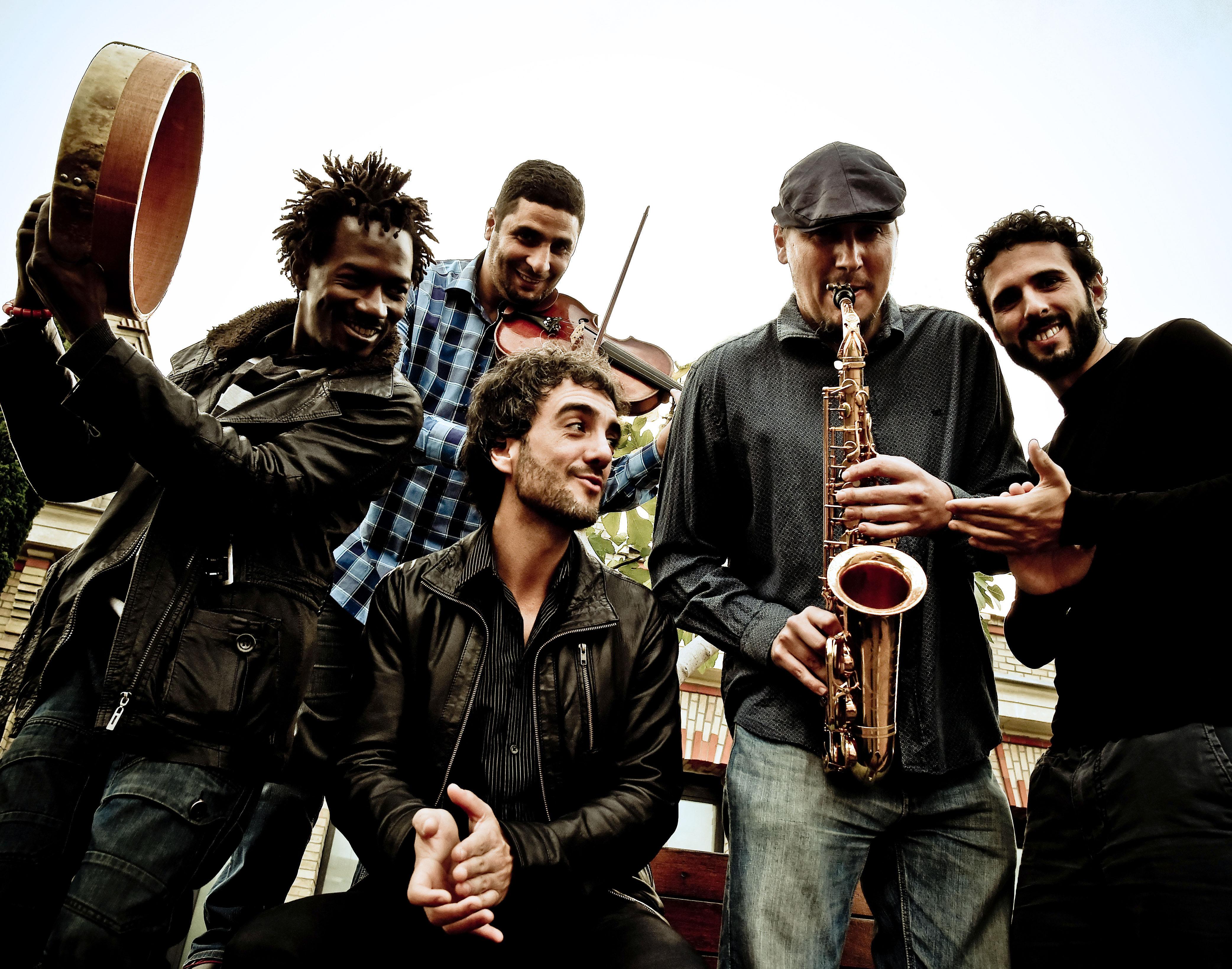 Sinouj con Larbi Sassi en el Bogui Jazz Madrid, 27 de julio