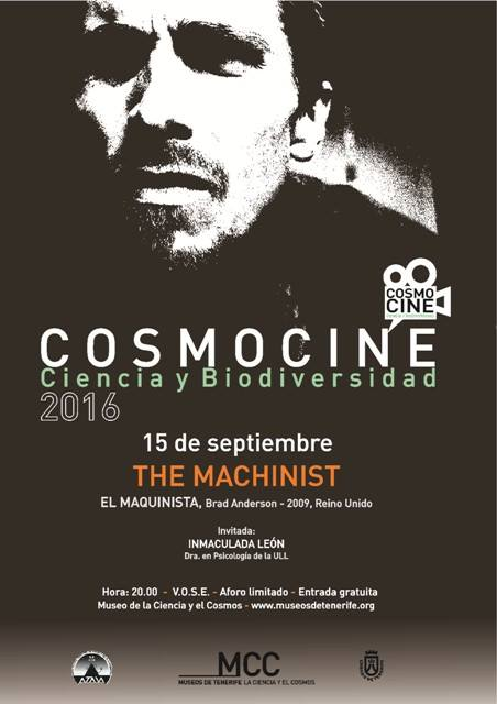 """'El Maquinista' centra el debate en el ciclo  """"CosmoCine. Ciencia y Biodiversidad"""", jueves 15 septiembre"""