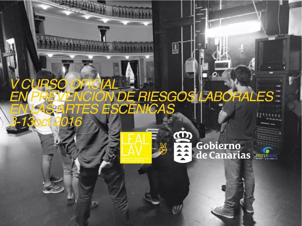 Leal.Lav ofrece el Curso de Prevención de Riesgos Laborales en las Artes Escénicas