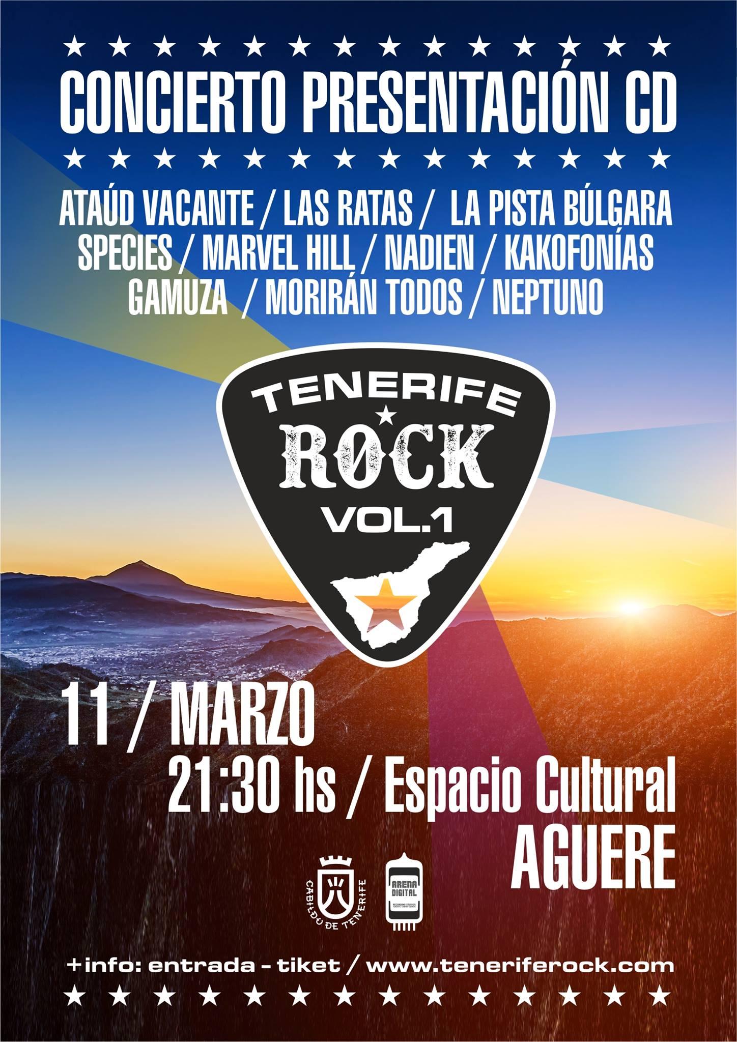 Tenerife Rock Vol. 1 será presentado el próximo 11 de marzo