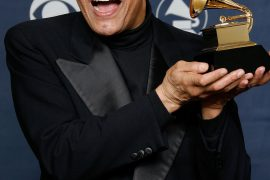 LOS ANGELES, CA - FEBRUARY 11: Singer Al Jarreau  poses in the press room with his Grammy for Best Traditional R&B Vocal Performance at the 49th Annual Grammy Awards at the Staples Center on February 11, 2007 in Los Angeles, California.  (Photo by Vince Bucci/Getty Images)