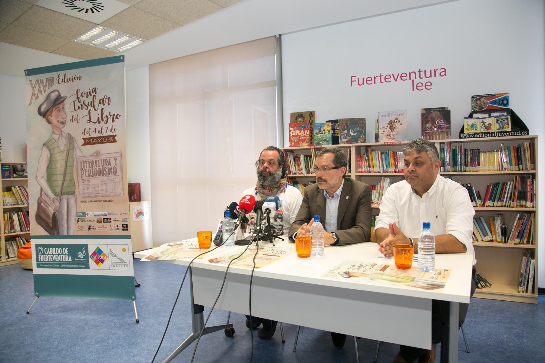 'Literatura y periodismo', lema de la XXVIII edición de la Feria Insular del Libro