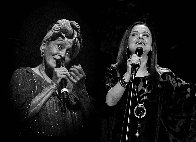 Omara Portuondo y Olga Cerpa en el Teatro Leal