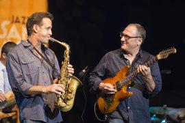 Concierto de Chuck Loeb and Friends con Eric Marienthal el 2 de agosto de 2014 en el XVII Festival Internacional de Jazz de San Javier