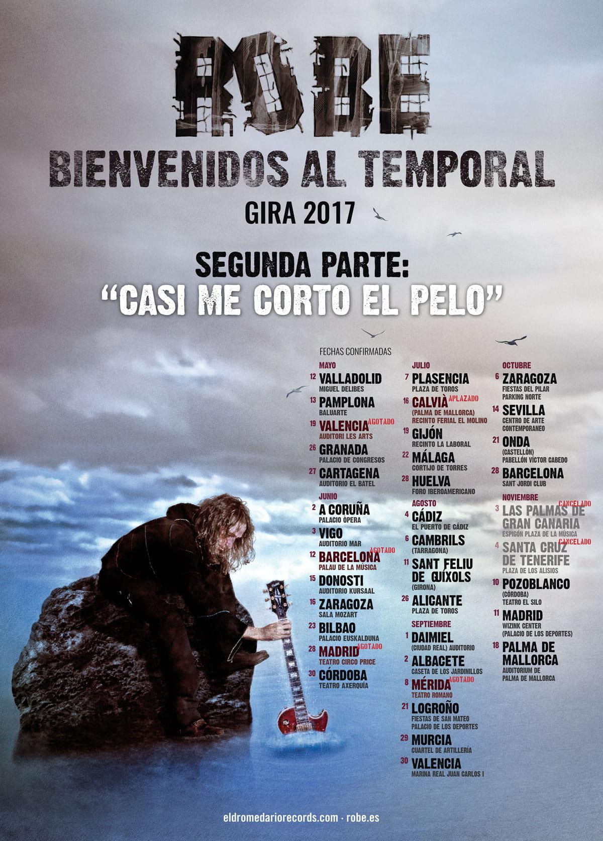 Robe Iniesta cancela sus actuaciones en Canarias