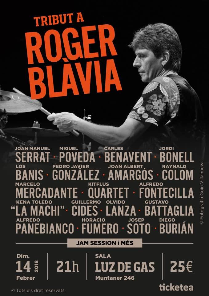 Tributo a Roger Blàvia en Barcelona.
