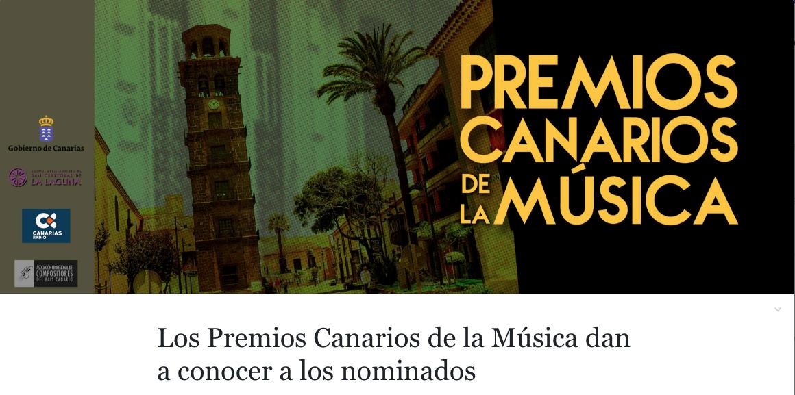 Los Premios Canarios de la Música dan a conocer a los nominados