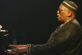 Saint-Louis, SENEGAL: US  piano player Randy Weston plays one of his composition with the Randy Weston African Rythms late 27 May 2007 in the northern Senegalese city of Saint-Louis during the closing night of the 15th International Jazz Festival of Saint-Louis. AFP PHOTO GEORGES GOBET AFP PHOTO GEORGES GOBET (Photo credit should read GEORGES GOBET/AFP/Getty Images)