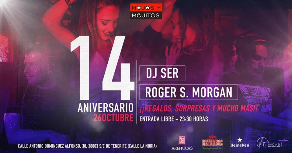 Dj Ser y Roger S Morgan pondrán a bailar el Mojo y Mojitos en su 14 aniversario