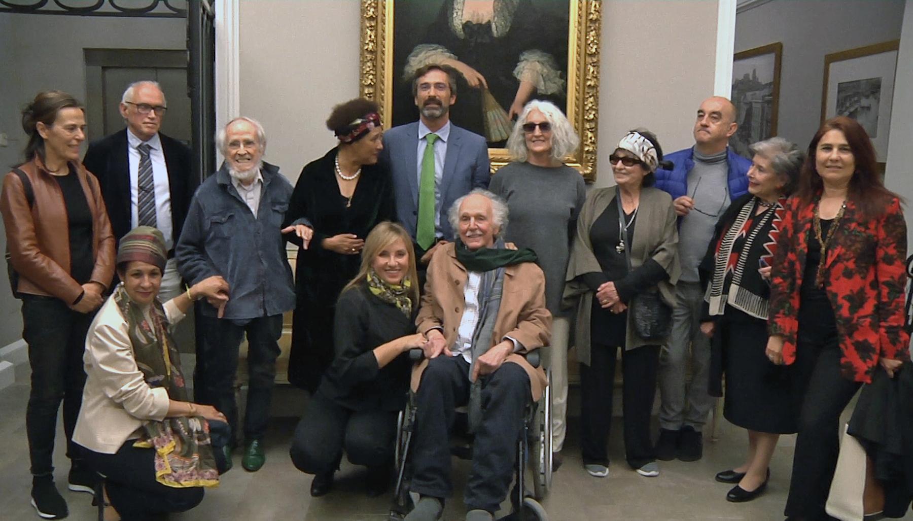 Reunión de artistas homenaje a César Manrique en Madrid