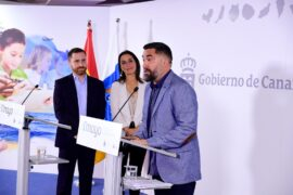 rp Día de Canarias Isaac Castellano, Alexandra Betancort e Israel Reyes
