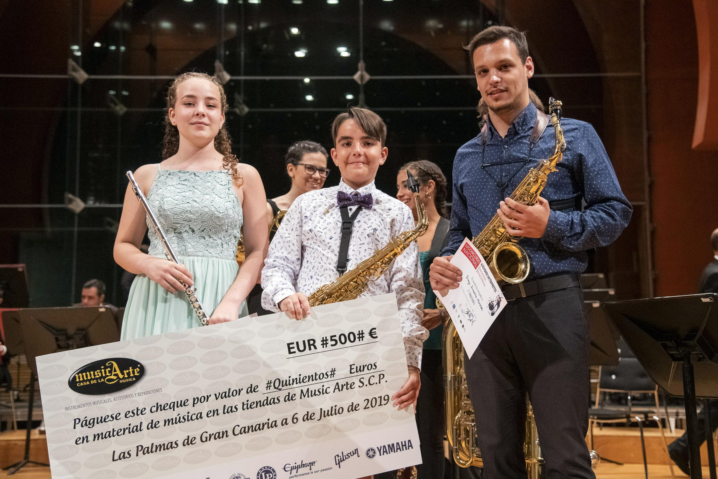 El saxofonista Diego Arrocha gana el IV Concurso Nacional de Jóvenes Intérpretes de la capital grancanaria
