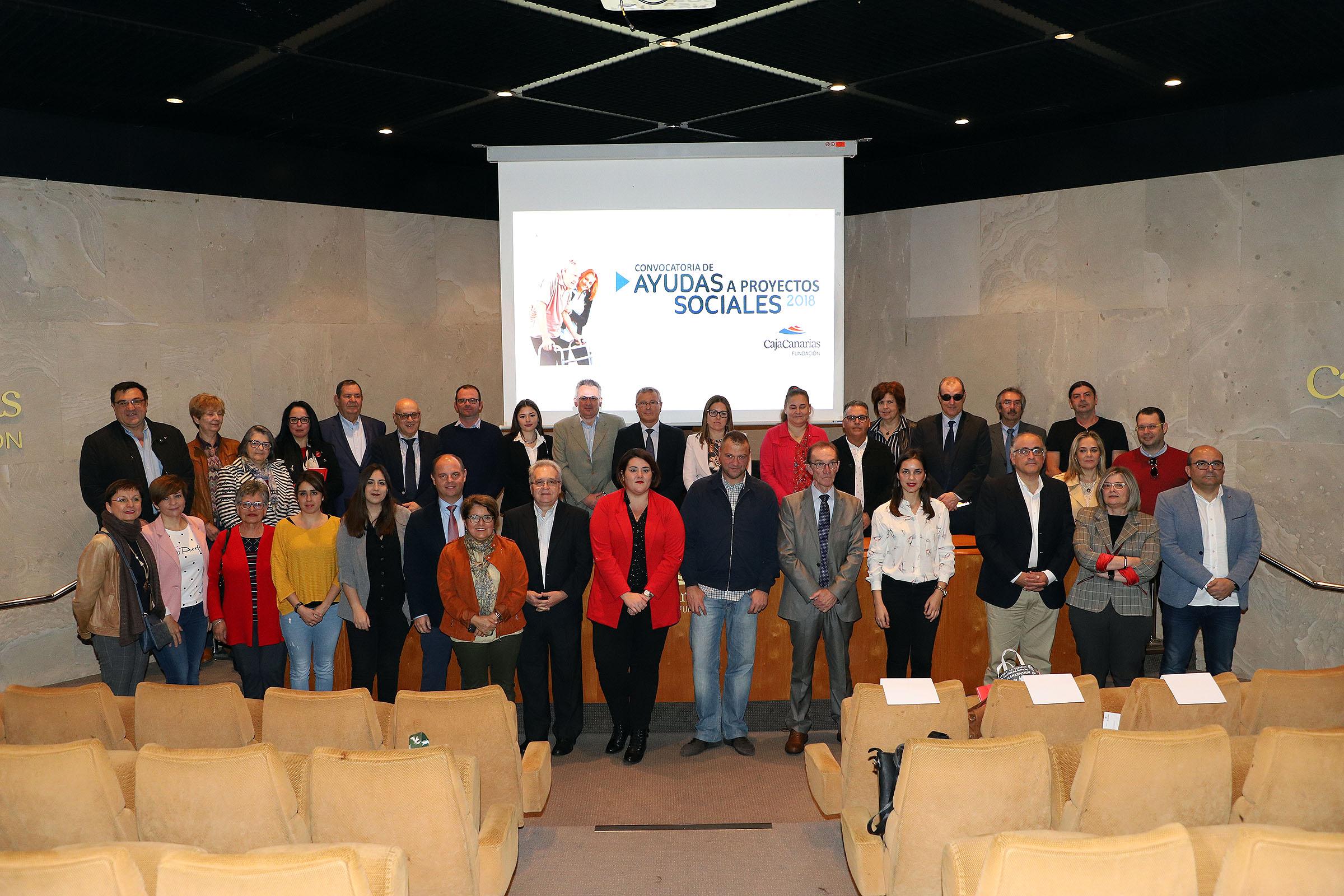 La Fundación CajaCanarias anuncia la resolución de su Convocatoria de Ayudas a Proyectos Sociales 2019