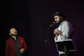 Los músicos Edgar Oceransky y Daniel Ojeda