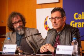 Presentación Teatro Cuyás - Siete hombres buenos (4) - I a D - Miguel Ángel Maciel y Rafael Rodríguez