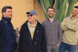 Marco Mezquida, Ramón Prats y Bori Albero con Lee Konitz.