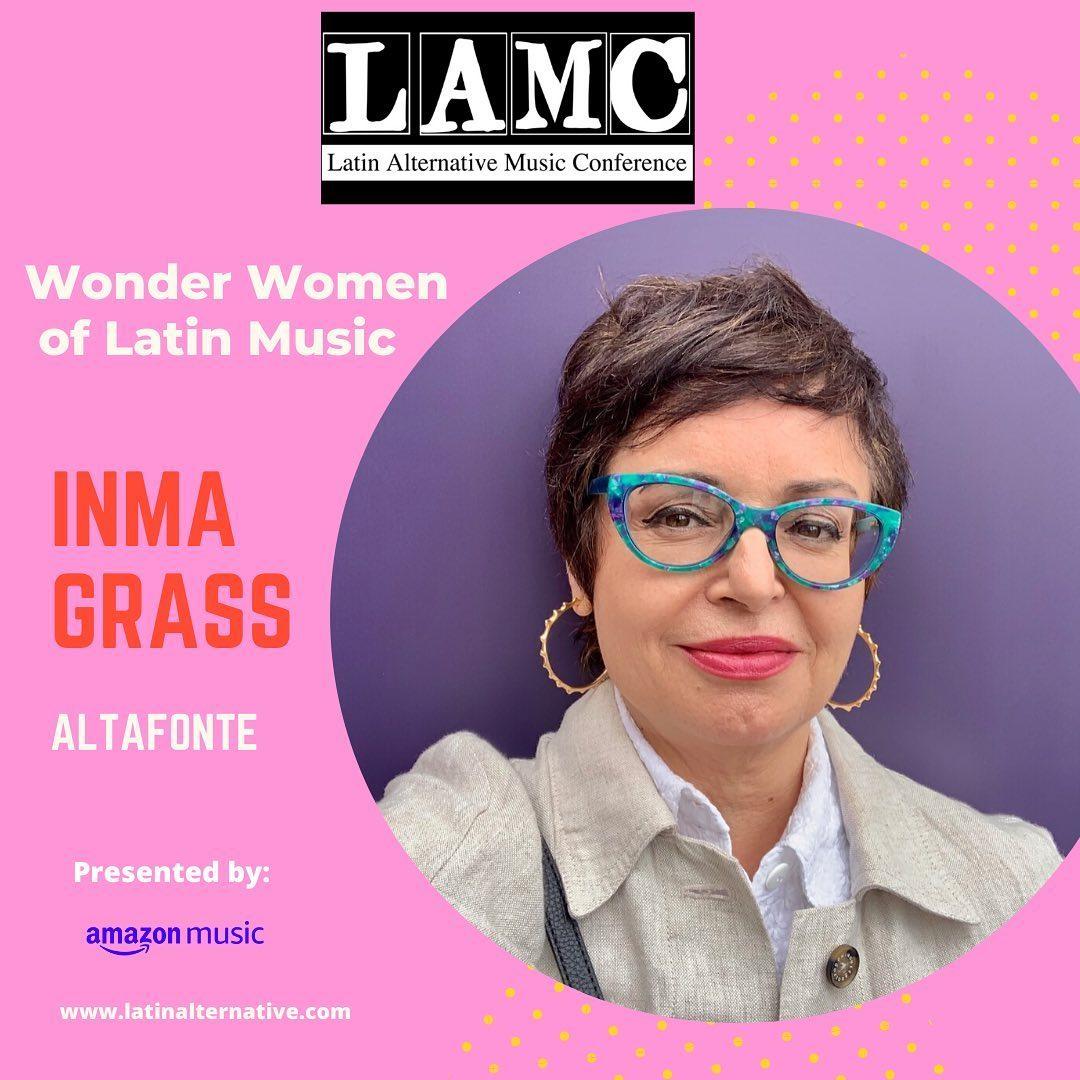 Inma Grass, fundadora de Altafonte, premiada con Wonder Woman OF Latin Music