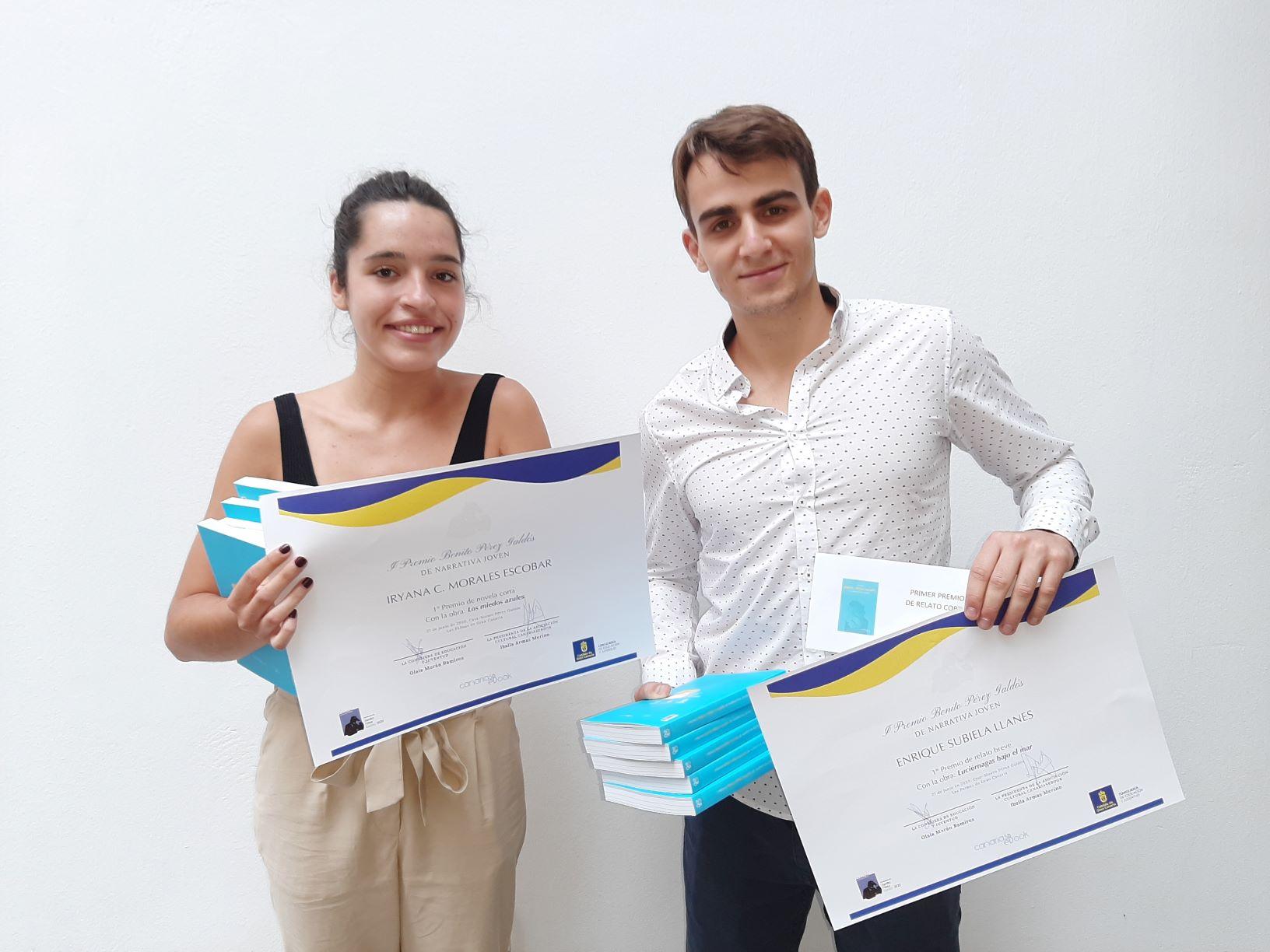 Iryana C. Morales y Enrique Subiela ganan el Premio Benito Pérez Galdós de narrativa joven