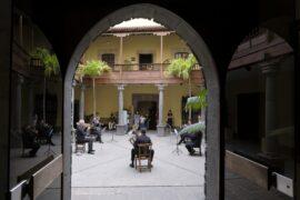 Un quinteto de viento de la la OFGC actuó en la reapertura de la Casa de Colón