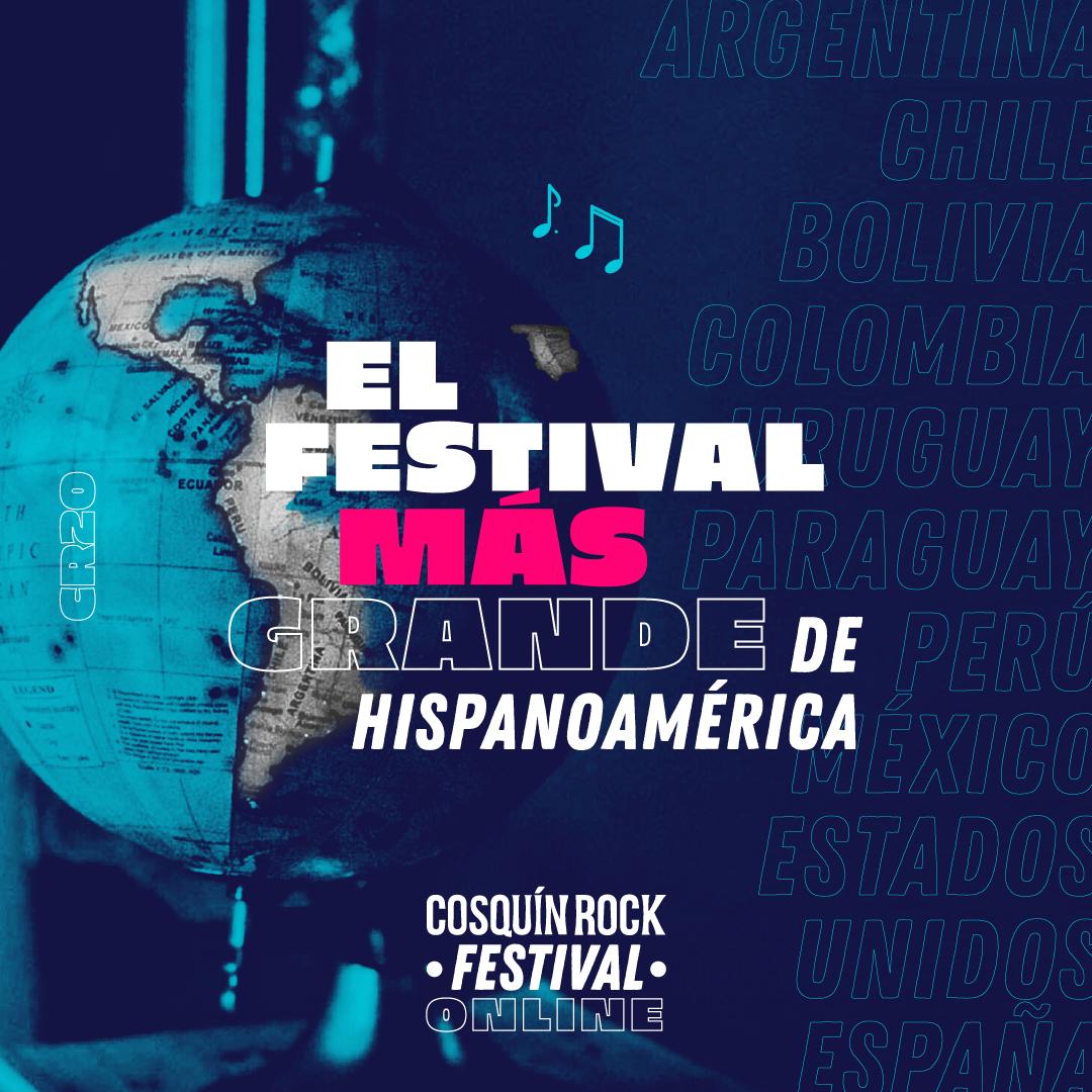 El festival online más grande de Hispanoamérica, Cosquín Rock