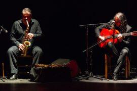 Gautama del Campo (saxo) y Ezequiel Reina (guitarra)