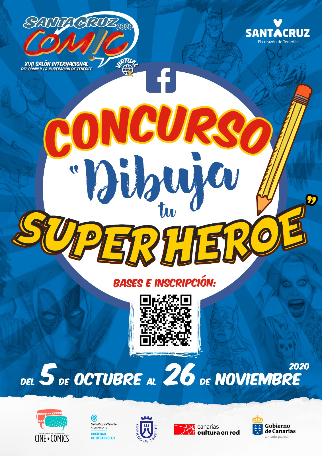 Santa Cruz Cómic 2020 lanza un concurso popular de dibujo para escolares de Canarias