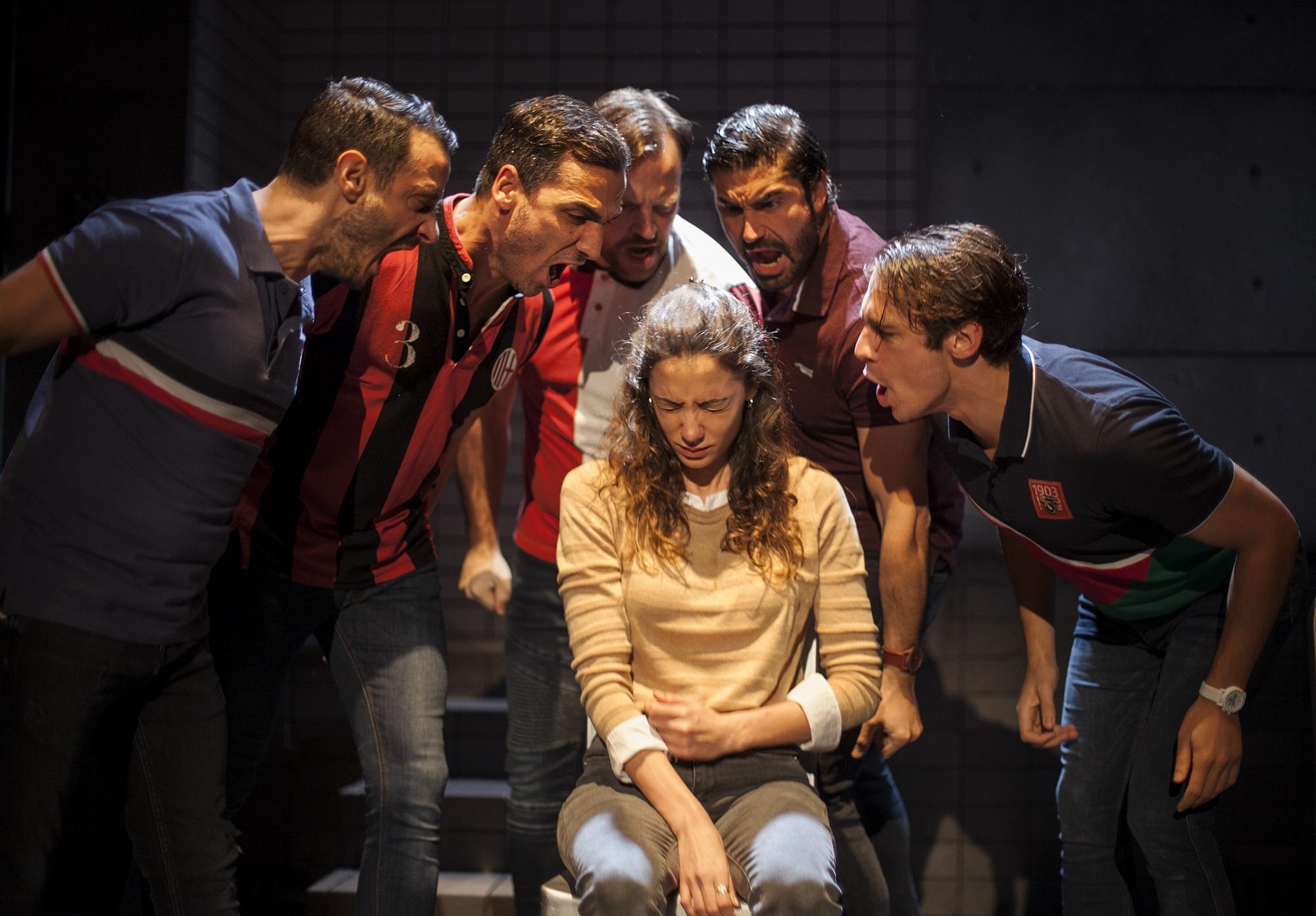 La obra Jauría se exhibe en el Teatro Cuyás