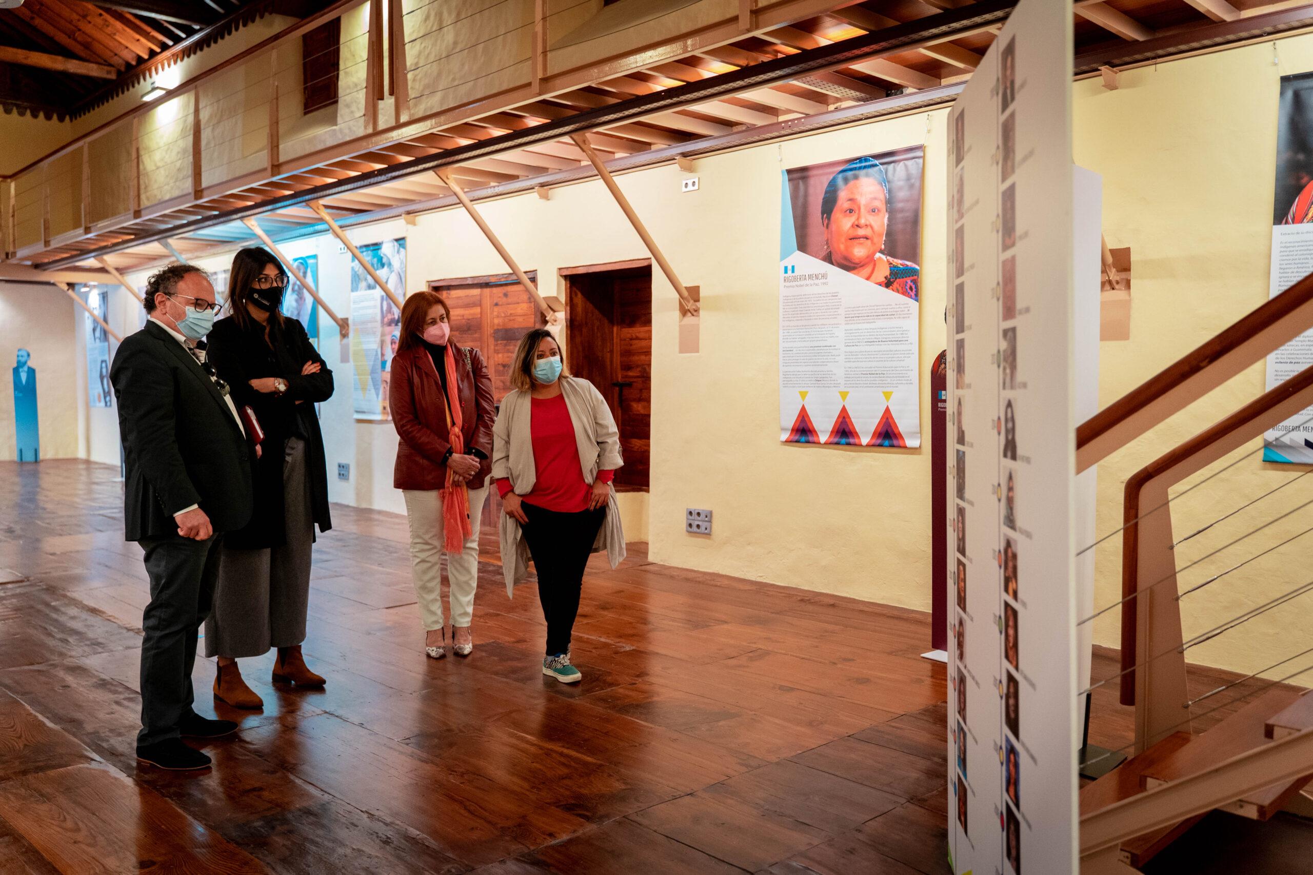 La Laguna acoge una exposición para reivindicar la trayectoria de las mujeres Nobel de la Paz