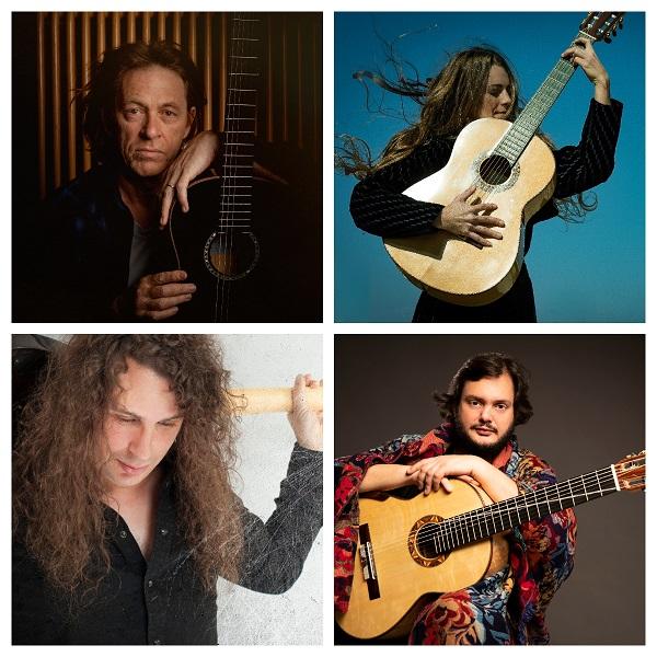 Yamandu Costa, Dominic Miller, Noa Drezner y Robert Rodrigo en el ciclo Solo guitarra